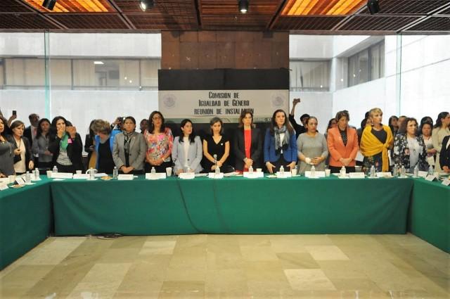 En instalación de la Comisión de Igualdad de Género, legisladoras exponen los temas principales por atender. Dos de ellos, aumentar resupuestos dirigidos a este sector de la población y crear leyes que protejan sus derechos.