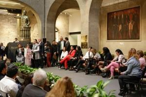 La violencia que enfrentan diariamente las mujeres, atenta contra sus derechos humanos, dijo la senadora Nancy de la Sierra Arámburo
