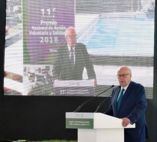 El Secretario de Salud, José Narro Robles, presidió la ceremonia de entrega del 11° Premio Nacional de Acción Voluntaria y Solidaria 2018.
