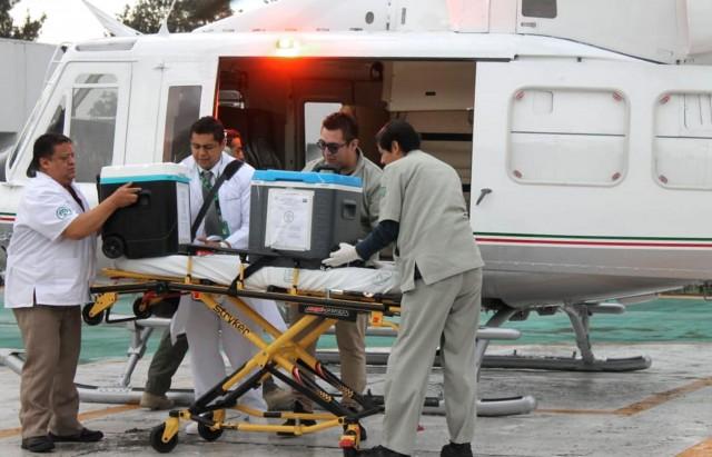 os órganos se procuraron de un hombre de 33 años, de quien también se obtuvieron dos riñones que fueron trasladados a Coahuila.