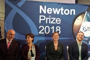 El proyecto dedicado a la eficiencia del uso del agua del frijo y la fijación de nitrógeno de frijol bajo sequía utilizando germoplasma mesoamericano no transgénico fue el ganador del Newton Prize 2018.