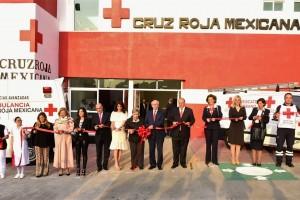 El Secretario de Salud encabezó la reinauguración de la Base de Socorros Cuajimalpa de la Cruz Roja Mexicana.