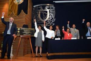"""Inauguró la exposición """"Enfermería Universitaria: tiempo y espacio"""", en el marco de la celebración por los 50 años de la licenciatura del área en la UNAM."""