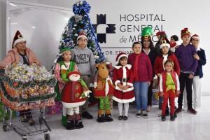 Recorrieron diferente áreas y pasillos del nosocomio deseando Feliz Navidad