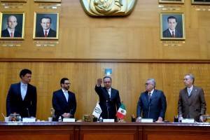 Tomó la protesta de ley al licenciado Germán Martínez Cázares como Director General del Seguro Social, luego del nombramiento hecho por el Presidente de la República, Andrés Manuel López Obrador.