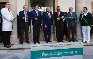 Fueron inauguradas las oficinas del Seguro Social, ubicadas en el Palacio Federal de Morelia, Michoacán.
