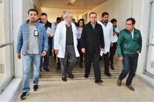El Secretario Jorge Alcocer Varela y el titular del IMSS, Germán Martínez Cázares, acudieron a la Unidad Médica de Alta Especialidad en Lomas Verdes, Estado de México.