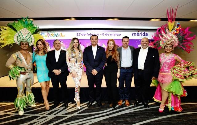 """""""El Nuevo Carnaval, La Fiesta de Mérida"""", gran escaparate de diversión familiar y referente turístico y económico.Más de 20 innovaciones entre zonas de esparcimiento, concursos de comparsas, """"Pabellón sustentable"""", entre otros."""