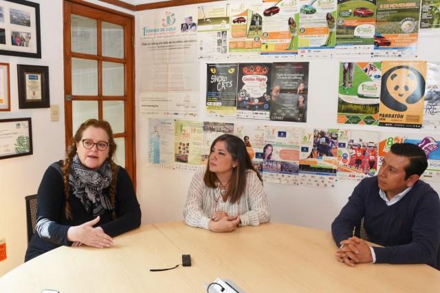 Laura Vidales, Gabriela Mercado y Óscar Alonso.