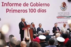Mensaje del presidente Andrés Manuel López Obrador con motivo de los primeros 100 días de gobierno.