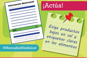 """Semana de la Sal 2019 - """"¡Es hora de tomar ACCIÓN sobre la sal"""""""