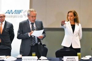 """""""Reiteramos nuestro objetivo de fortalecer a nuestro sector como aliado estratégico de nuestras autoridades en el logro de mejores resultados para el sistema de salud en su conjunto"""", Ana Longoria,presidentade laAsociación Mexicana de Industrias de Investigación Farmacéutica."""