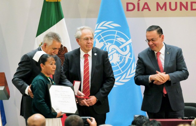 "Premio ""Lucia Salcido"", fue para la enfermera general Guadalupe Ortiz Rivas"
