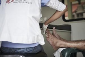 En el caso de los migrantes que llegan a Baja California, MSF ha detectado que su arribo lo hacen mayoritariamente en tren, por lo que  después de pasar largos periodos expuestos a situaciones de riesgo como violencia sexual, requieren no solo de atención médica sino también de atención psicológica. Christina Simons/MSF