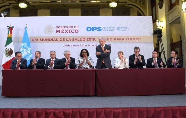 El evento de lanzamiento del reporte fue encabezado por el Presidente de los Estados Unidos de México, Andrés Manuel López Obrador, la Directora de la OPS, el Secretario General Adjunto de la Organización de los Estados Americanos (OEA) y Presidente de la Comisión, Néstor Méndez; y la Alta Comisionada de las Naciones Unidas para los Derechos Humanos y expresidenta de la Comisión, Michelle Bachelet.