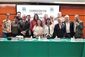 Funcionarios de la Secretaría de Slud se reunieron co la Comisión de Salud que preside la diputada Miroslava Sánchez.