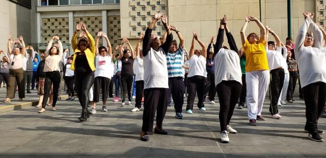Trabajadores del IMSS realizaron activación física a nivel nacional.