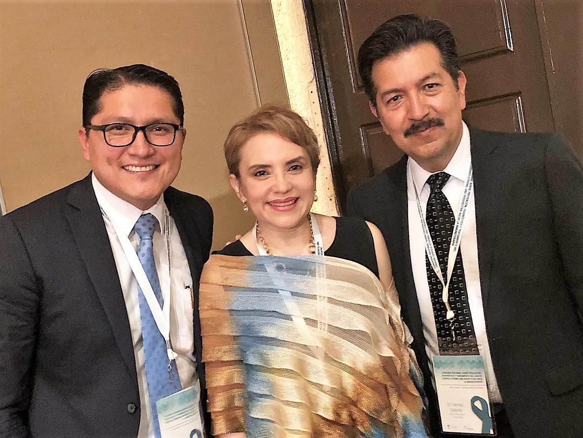 Dr. Azcary Vázquez, Sociedad Mexicana de Oncología (SMeO); Dra. Lucely Cetina, Líder del programa MICAELA ; Dr. Germán Calderillo, Instituto Nacional de Cancerología