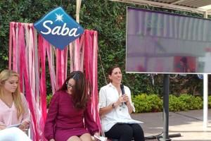 De izquierda a derecha: Kitzia Cooper, Gerente de Mercadotecnia de Saba, Ivette Medrano, Directora de Mercadotecnia de Cuidado Personal en Essity, y Palmira Camargo, VP de Comunicación de Essity Latinoamérica.