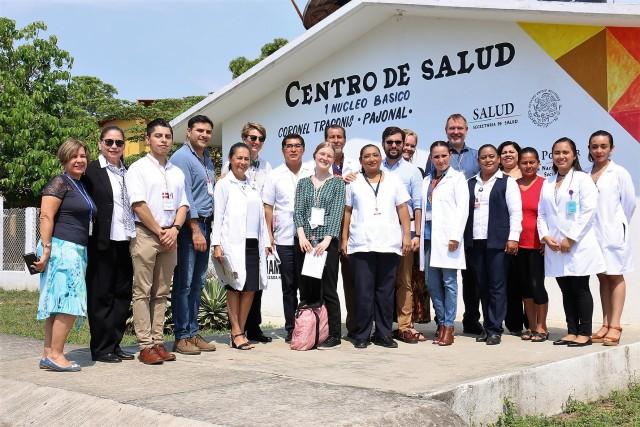 """Centro de Salud de la ranchería Coronel Traconis """"Pajonal""""."""