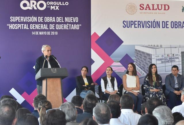 El Secretario de Salud supervisa la obra del nuevo Hospital General de Querétaro, que beneficiará a más de dos millones de habitantes.