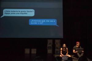 Teatro contemporáneo de autor en la CDMX protagonizado por la escritora mexicana Dianitzia Palencia y el actor español Alberto Collado.