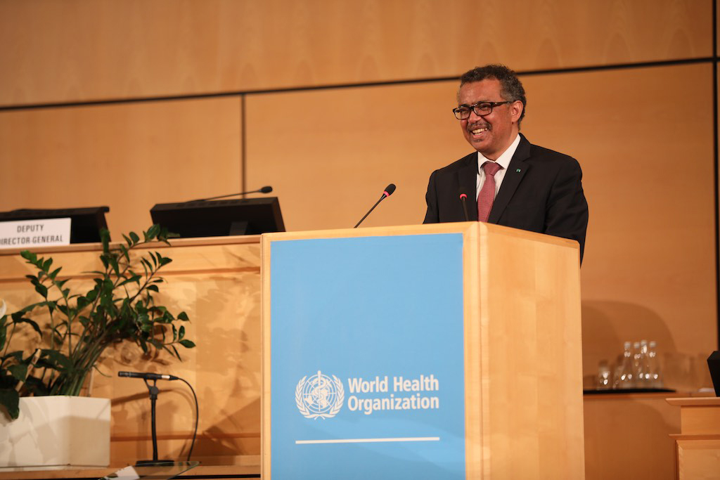 Director General de la Organización Mundial de la Salud (OMS), Tedros Adhanom Ghebreyesus