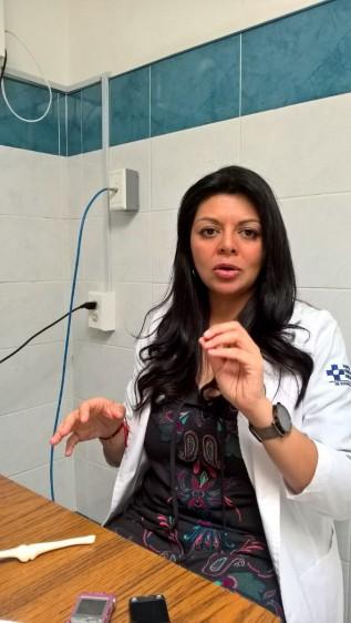 María del Carmen García Ruiz, adscrita al Servicio de Ortopedia del Hospital General de México Dr. Eduardo Liceaga.