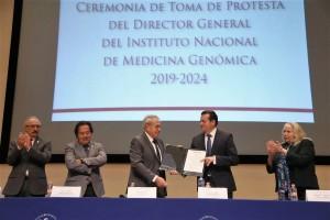 Ceremonia en el Instituto Nacional de Medicina Genómica