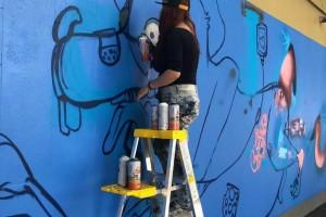 Participan artistas urbanos, nacionales e internacionales, en el desarrollo de graffitis artísticos en el Hospital General de México.