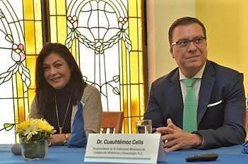 Imelda Hernández, y Cuauhtémoc Celis