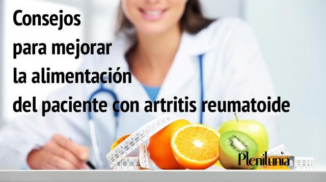 La alimentación no puede curar la artritis, pero sin lugar a dudas, hará que el paciente se sienta mejor y pueda llevar un estilo de vida más saludable.