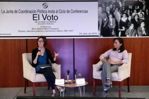 """""""Mujeres, derechos políticos y movilización"""", fue la tercera conferencia del ciclo organizado por la Junta de Coordinación Política."""
