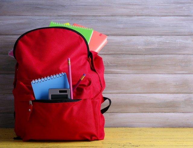 Las mochilas escolares deben ser ligeras, pesar menos del 15% del peso corporal del menor.