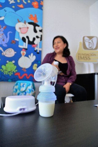 Este espacio está diseñado para uso específico de la extracción y almacenamiento de leche materna
