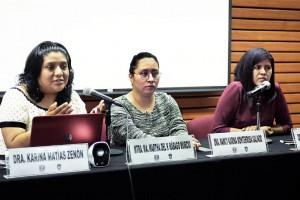 Nancy Monterrosa Galindo, Karina Matías Zenón y Berenice Reyes Aguilar visitaron la Facultad de Derecho de la UNAM