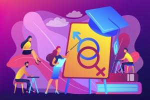 Ilustración de salud sexual y reproductiva