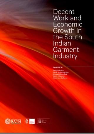 Trabajo decente y crecimiento económico en la industria de la confección del sur de la India.