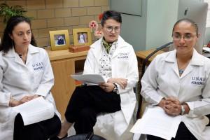 Angélica Arce Cedeño, Amelia Díaz Olavarrieta y Mónica Aburto Arciniega.