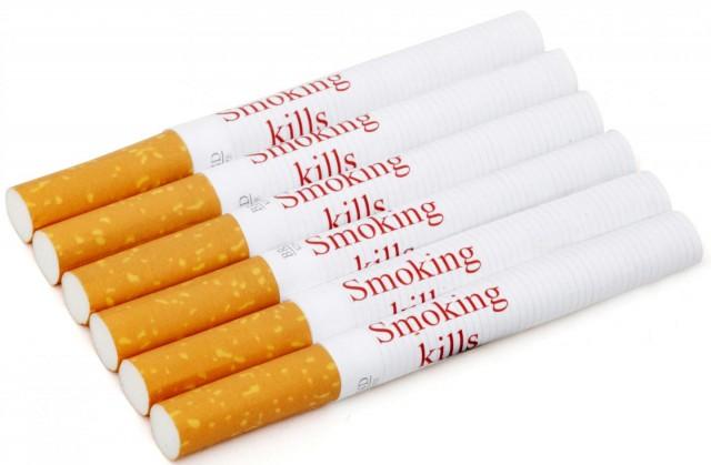 "Cigarros con imagen de advertencia ""Fumar mata"""