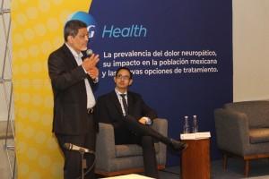 Dr. Manuel Duarte Vega, Director Científico en el Instituto de Investigación Cardiovascular de Guadalajara y Dr. Andrés Herrera, gerente Médico de P&G Health México.