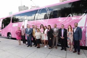 Por octava edición consecutiva, Caravana Rosa de ADO, marca de transporte en México y parte de MOBILITY ADO así como la Fundación del Cáncer de Mama (FUCAM) se unen para brindar mastografías gratuitas.