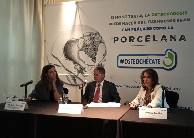 """Conferencia de prensa Amgen, campaña """"Huesos de Porcelana"""""""