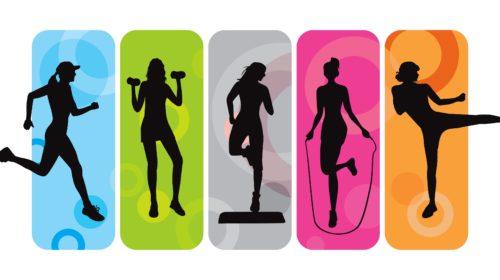 Siluetas de fitness