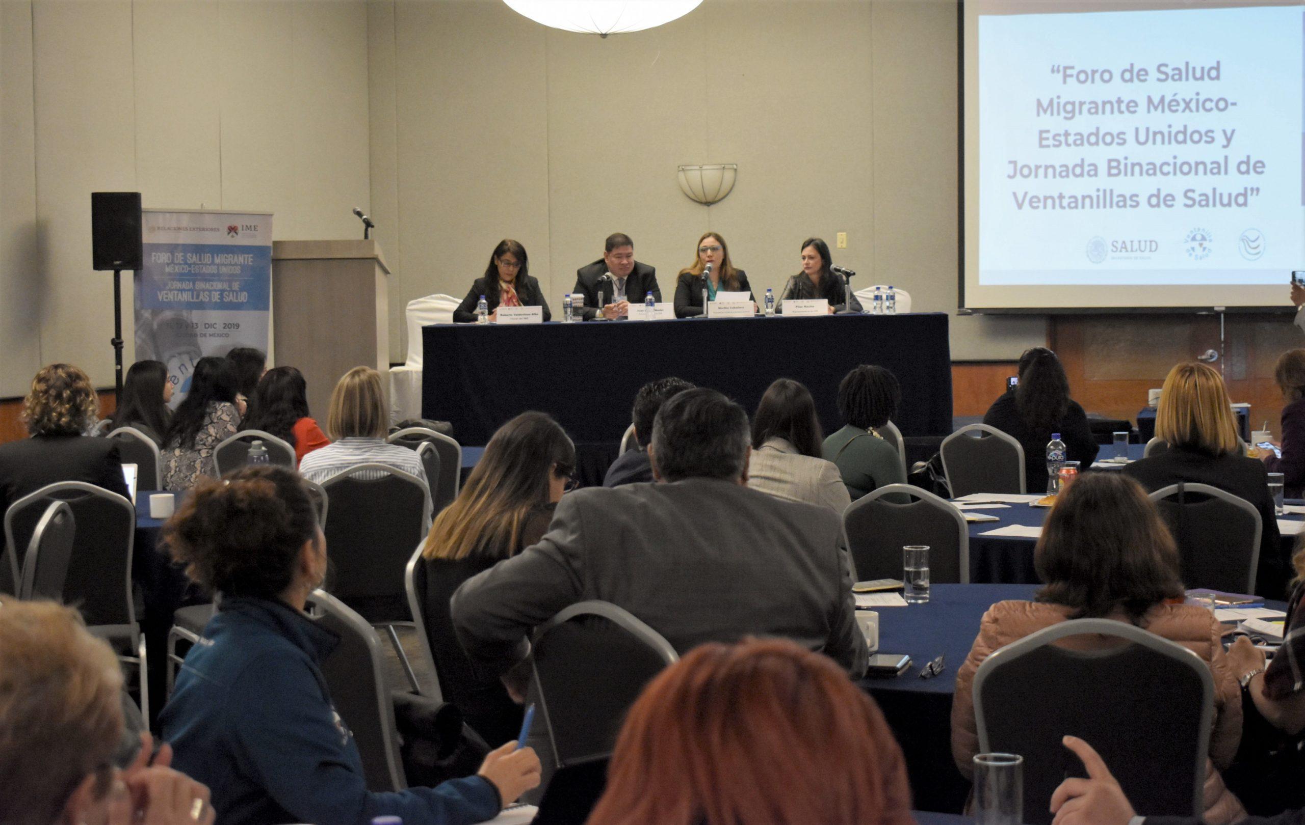 Foro de Salud Migrante México- Estados Unidos, en el marco de la XVI Reunión Anual de Ventanillas de Salud.