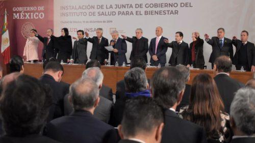 protesta de ley a los integrantes de la Junta de Gobierno del Instituto de Salud para el Bienestar (INSABI)