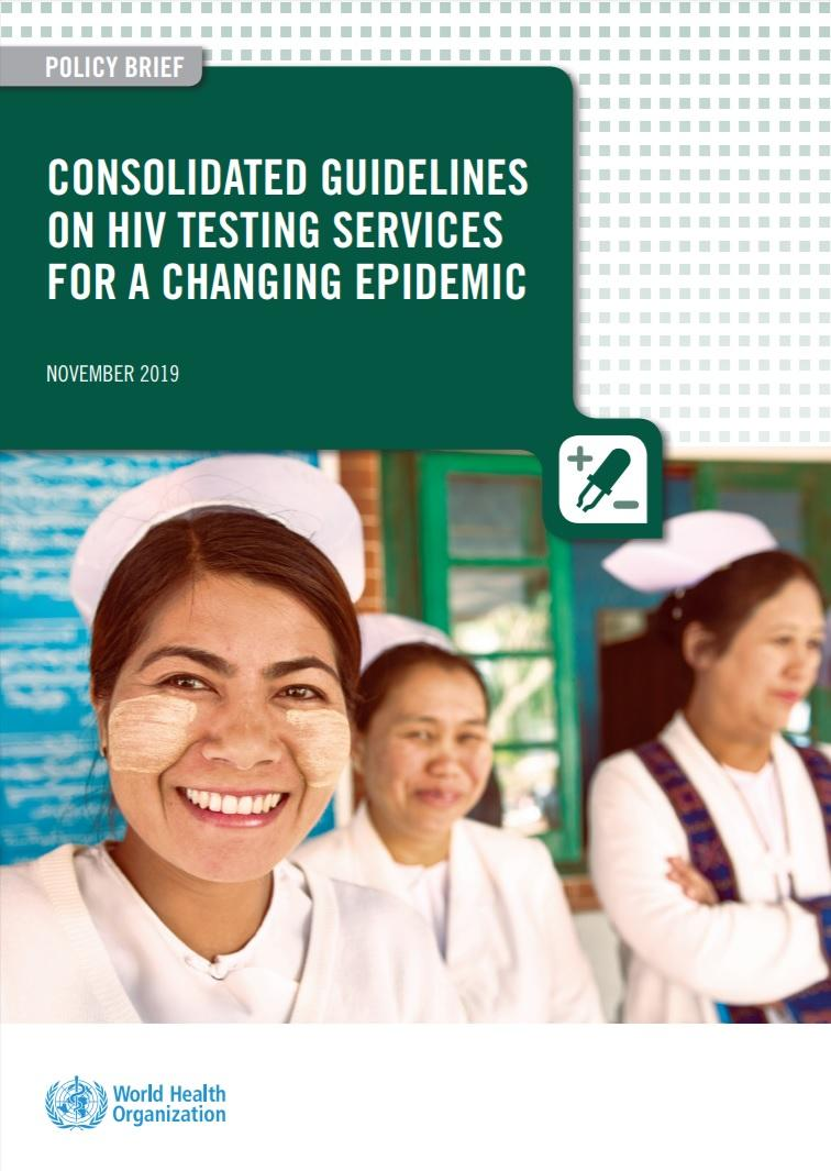 "Portada de ""Consolidated guidelines on HIV testing services for a changing epidemic"""