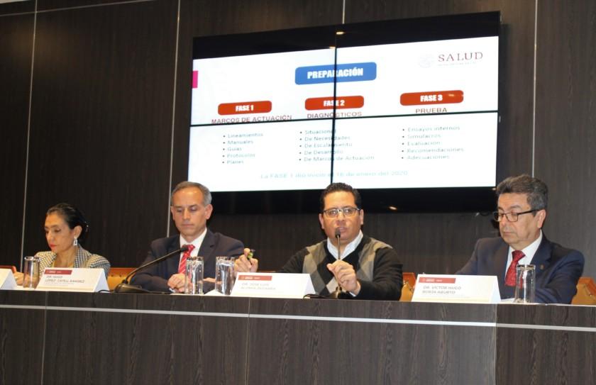 Conferencia de prensa COVID-2019 en la Secretaría de Salud