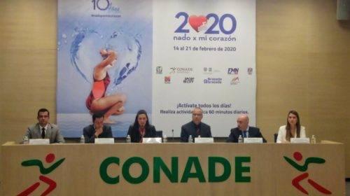 Conferencia de prensa Nado por mi corazón 2020