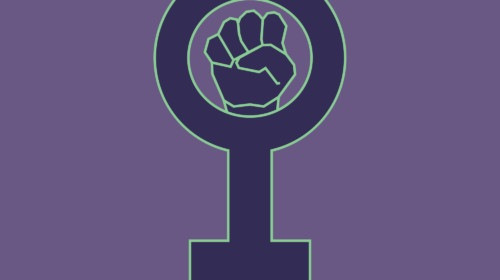 Símbolo feminista violeta